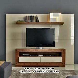 Meja TV Kayu Jati Model Minimalis
