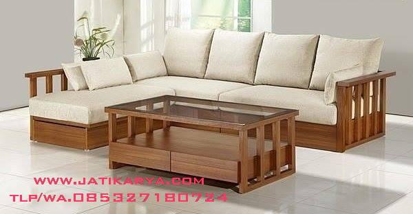 Sofa Sudut Mewah Minimalis Jepara