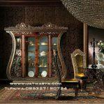 Lemari Hias Ruang Tamu Ukiran Mewah Jepara