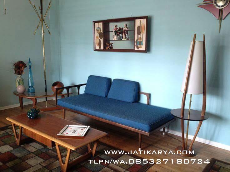 Set Ruang Tamu Minimalis Klasik Jati Karya Furniture