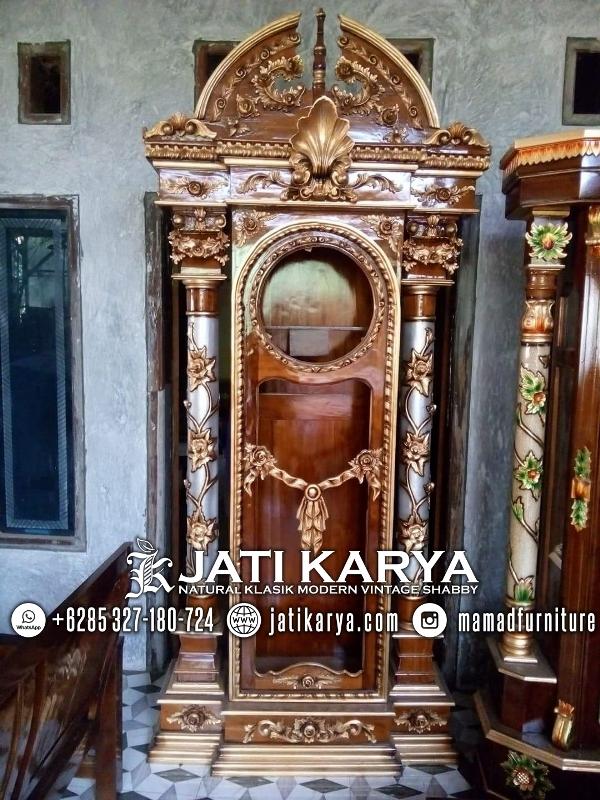 Lemari Jam Jati Mewah