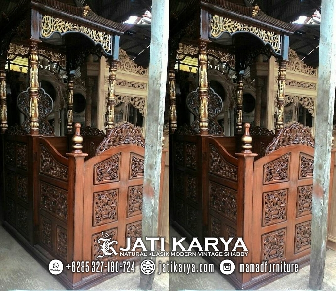 Mimbar Masjid Jati Karya Furniture