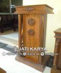 Podium Minimalis Kayu Jati