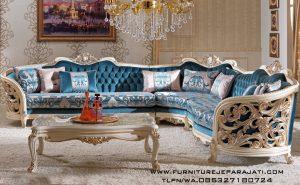 Sofa Sudut Modern Klasik Mewah Jepara Terbaru