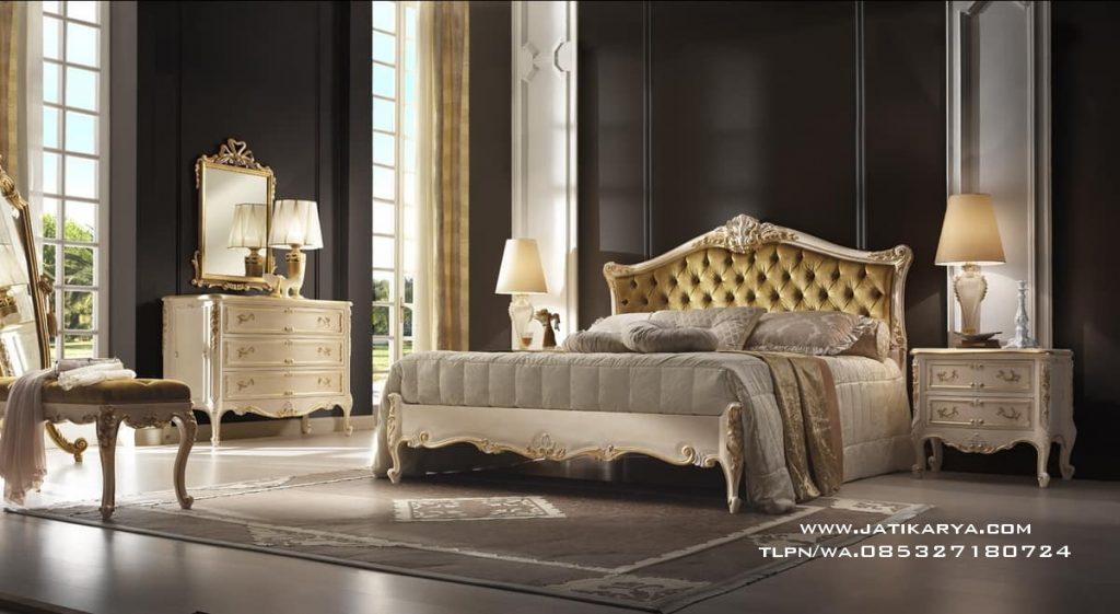 Set Kamar Tidur Ukiran Mewah Klasik Jepara Jati