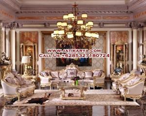 Set Ruang Tamu Mewah Eropa