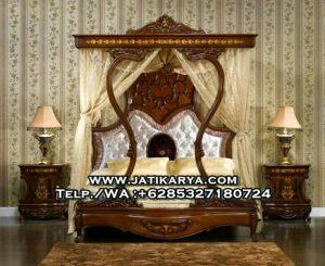 Tempat Tidur Canopy Ukiran Jepara