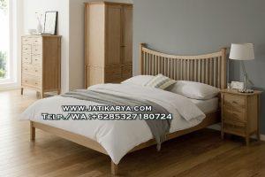 Set Tempat Tidur Minimalis Jati Model Jari Jari