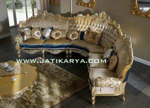 Sofa Sudut Ukiran Jepara