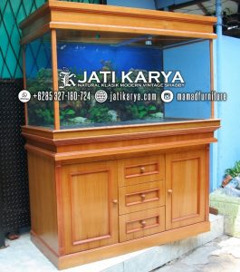 Meja Aquarium Jati Minimalis