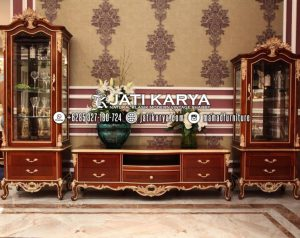 Set Bufet TV Klasik Jati Ukiran