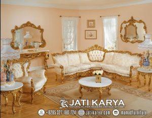Set Kursi Sofa Tamu Ukiran Jati Mewah