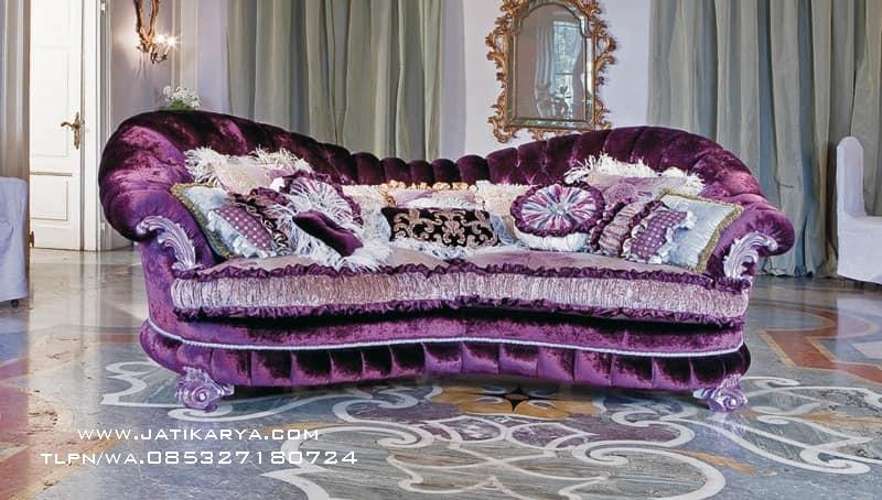 Sofa Princes Ukiran Minimalis Jepara Jati