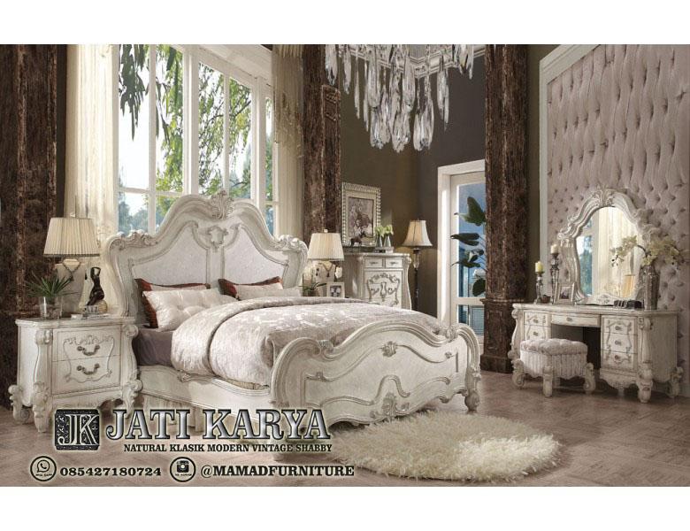 Set Kamar Tidur Havilah Victorian Mewah Ukiran Klasik Jati Jepara