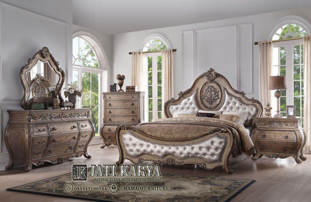 Set Kamar Tidur Ukiran Mewah Finising Antique Rustic