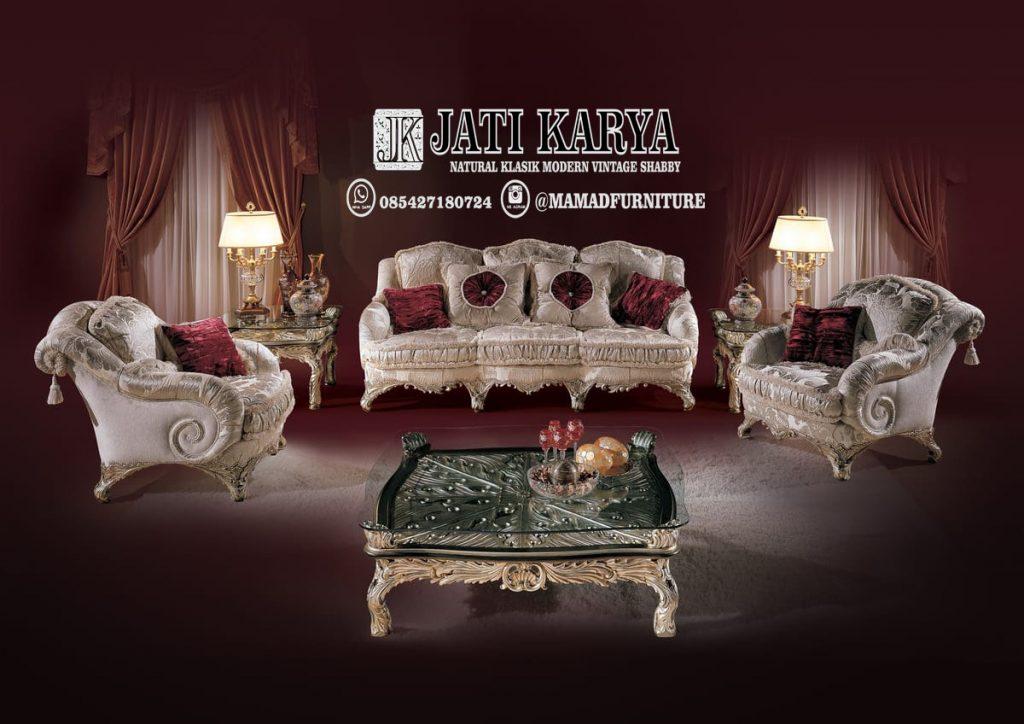 Set Sofa Tamu Mewah Modern Jati Jepara Murah