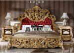 Set Tempat Tidur Mewah Full Ukiran Gold Duco