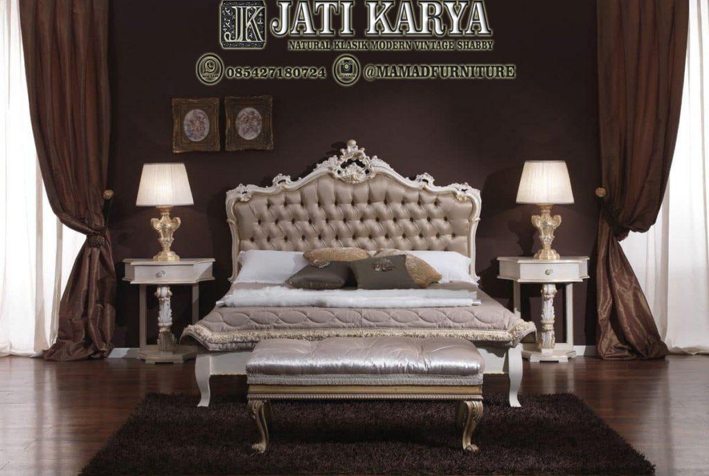 Set Tempat Tidur Minimalis Ukiran Mewah Jati Karya