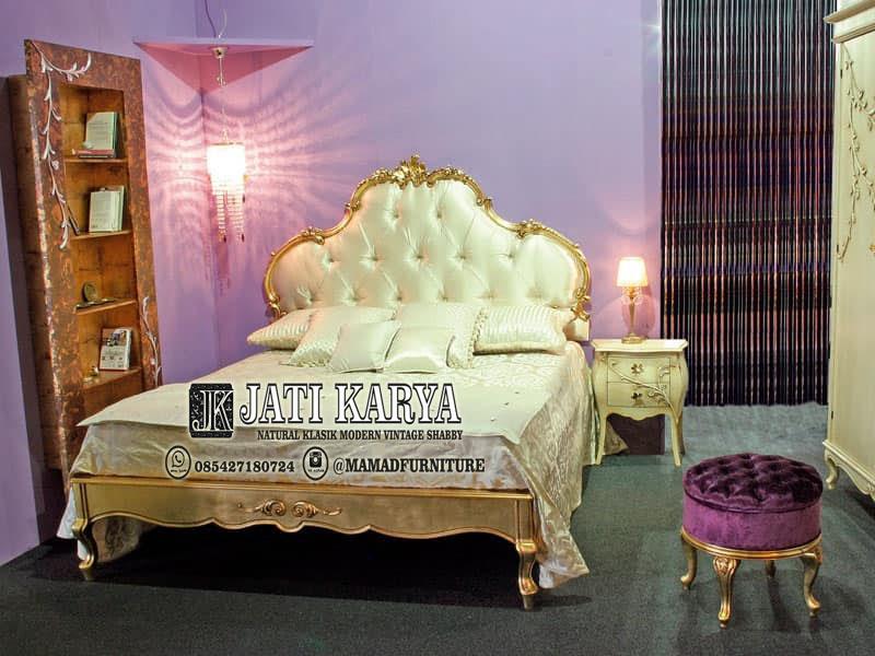 Tempat Tidur Jasmine Ukiran Jati Mewah Jepara
