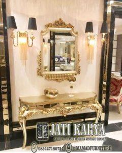 meja konsul mewah gold duco furniture jepara