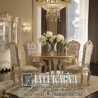 meja kursi makan mewah furniture jepara jati