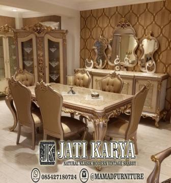 meja makan klasik  mewah gold duco jepara