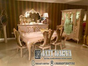 set kursi meja makan klasik jepara