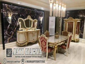 Set meja makan kombinasi meja konsul