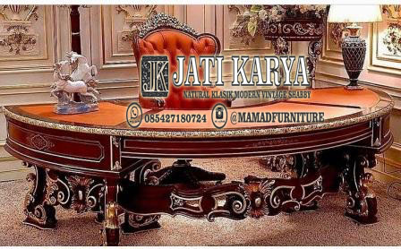 set meja kerja furniture jepara jati