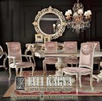 Set meja kursi makan klasik jepara jati