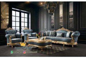 Set Sofa Ruang Tamu Mewah  Gold Leaf