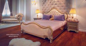 Tempat Tidur Modern Ukir Mewah Jepara